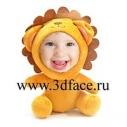 Игрушка 3D FACE, кукла львенок.