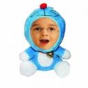 3D FACE кукла синий кот, Необычный подарок игрушка