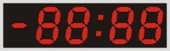 Табло «электронные часы» Alpha sign 350/4