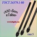 Болты фундаментные прямые, тип 5 м16х250 ГОСТ 24379.1-80. ст3-35, 35х, 40, 40х, 09г2с, 45. ( масса шпильки 0.39 кг. ).