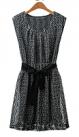 Платье в сеточку с поясом