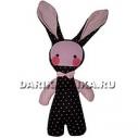Игрушка кролик «Pink&Black».