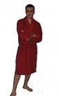 Махровый халат мужской бордовый