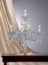 Настольная лампа хрусталь 409/FL4+1 RV