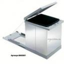 Выдвижное мусорное ведро с отделкой из нержавеющей стали Prima Tecnoinox