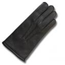 Мужские перчатки из оленя PL055WC (черн. )