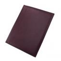 Папка адресная; бордовый; 32х25х1 см; кожа; тиснение, шелкография