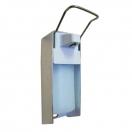 Дозатор локтевой M-1000 для жидкого мыла алюминивый с емкостью на 1000 мл
