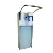 Дозатор локтевой Д-1000 для дезинфицирующих средств алюминивый с емкостью на 1000 мл