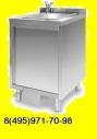 Мойка (ванна-тумба) односекционная с дверцей ТМ-2/600/600 из нержавеющей стали