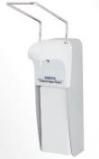 Дозатор MDS-1000 А(алюминевый)локтевой универсальный настенный для антисептиков и жидкого мыла под емкость 1 литр