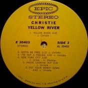 CHRISTIE  1970   Yellow  river