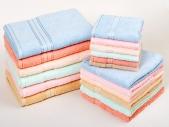 Комплект из трех махровых полотенец