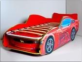 Кровать-машина Мустанг-Люкс, красная