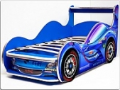 Кровать-машина СПОРТ-КАР — Люкс, синяя