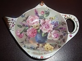 Подставка под чайный пакетик с кристаллами сваровски