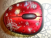 Беспроводная мышка с кристаллами сваровски