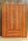 Шкаф распашной 4-х ств. с ящиками
