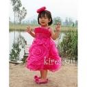 Платье «Роза» Ярко-розовое В Наличии Размеры на рост 90,110,120см