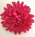 Астра «Яркая Малина» шелковый цветок Диам 11см Брошь или заколка на повязку, шапочку, футболку