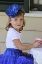 Пышные американские юбки Pettiskirt Ярко-синяя
