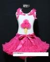 """Комплект Ярко-розовый с футболкой """"Мороженое"""""""