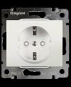 Розетка электрическая Galea Life с заземлением 16A без лицевой панели (автоматические клеммы)