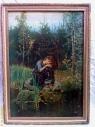 """картина маслом """"Алёнушка"""" копия с В.Васнецова"""