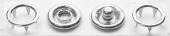 DNG buttons кнопка детская рубашечная открытая 9,5мм латунь #222