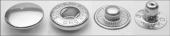 DNG buttons кнопка для верхней одежды ALFA 15mm латунь #500