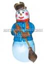 Новогодняя фигура Снеговик 160 см