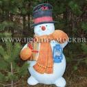 Новогодняя фигура Снеговик 120 см
