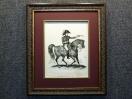 1815 год. Гравюра Наполеоновские войны ВЕЛЛИНГТОН в раме