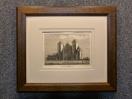 1785 год. Гравюра, пейзаж МОНАСТЫРЬ БАТЛИ в раме