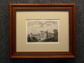 1785 год. Гравюра, пейзаж ЗАМОК КЭВЕРСВОЛЛ в раме