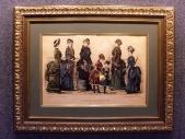 1870 е гг. БОЛЬШАЯ СТАРИННАЯ МОДНАЯ ГРАВЮРА в раме