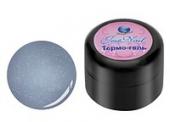 Цветной гель лак с терма – эффектом D/004 синий перламутр