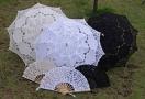 Зонт и веер кружевной свадебный. Пр-во Италия.