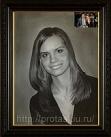 Портрет по фото Марины, портрет с фотографии на заказ