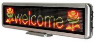 Светодиодная бегущая строка автономная 30*11 см. красные диоды 2990 руб