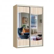Фристайл шкаф-купе двухдверный зеркальный