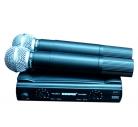 микорфон shure ut4/sm58 радиосистема.2 микрофона.кейс.магазин.