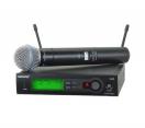 Микрофон SHURE SLX24/BETA58 проф.радиосистема.магазин.( не горбушка)