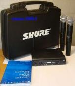 Микрофон SHURE SM58 V/A радиосистема 2 микрофона.КЕЙС.МАГАЗИН.( не рынок)