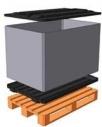 Контейнер полимерный на деревянном поддоне Н 700 1200*800*700