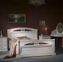 Спальня Екатерина-8 Люкс Новая ДБЗ Спальни / Сомово мебель  дуб беленый с золотом