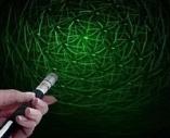 Зеленая лазерная указка 100 мВт + насадка «Звездное небо»