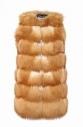 Меховой жилет из лисы, удлиненный