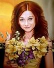 Картина, Маслом на холсте, Портрет девушки
