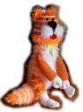 Котик (игрушка связанная крючком) 500:200 мм